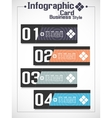 Infographic businnes card style 2 vector