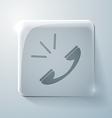 Call glass square icon vector