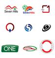 Logo shapes elements vector