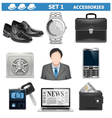 Male accessories set 1 vector