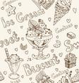 Ice cream seamless background vector