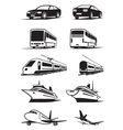 Passenger transportation in perspective vector