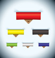 Paper tab icon leather tag vector