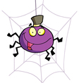 Cartoon character happy spider vector
