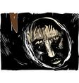 Man face artistic drawing vector