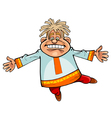 Cartoon character funny man in russian national vector