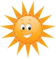 Cartoon sun smiley face vector