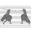 Two gladiators stencil vector