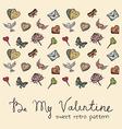 Valentine vintage pattern vector