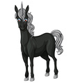 Black unicorn vector