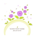 Beautiful card with roses vector