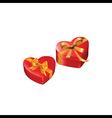 Heart gift presents vector
