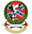 Logo with dalmatians vector