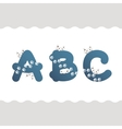 Set of cat letters vector