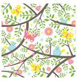 Spring season seamless pattern vector