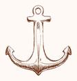 Anchor design vector