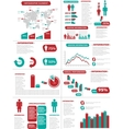 Infographic demographics new style vector