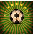 Retro football card in brazil flag colors soccer b vector