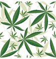 Cannabis seamless ornament over white background vector