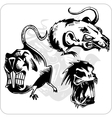 Set - aggressive rat vector