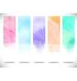 Colorful bright modern flyers collection vector
