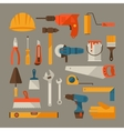 Repair and construction working tools icon set vector