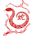 Chinese snake year vector