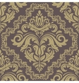 Damask seamless pattern orient golden background vector
