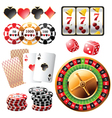 Highly detailed casino design elements vector