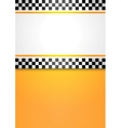 Taxi cab blank background vector