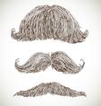 Retro mustache set vector