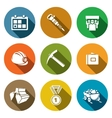 Coal industry icons set vector