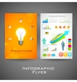 Business infographic flyer for presentation vector