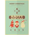 Retro merry christmas and new years card vector