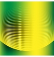 Abstract halftone green and yellow background vector