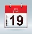 Calendar icon fathers day vector