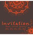 Indian wedding invitation vector