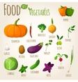 Food vegetables set vector