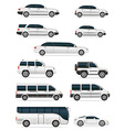 Set of cars for the transportation of passengers vector