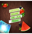 Certified local organic products vector