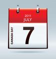 Canada day calendar icon vector
