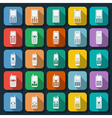 Phones icons collection vector