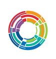 Abstract circle color stripes vector
