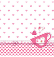 Baby shower with cup vector