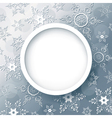 Winter abstract background grey with snowflakes vector