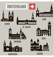 Cities in switzerland vector