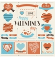 Labels and ribbons retro vintage vector