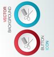 Comb scissors barbershop vector