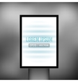 Empty vertical light billboard background vector