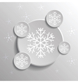 Abstract snowflakes vector